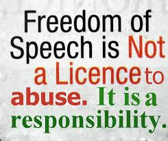 PEC free speech not a license to abuse