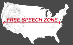 PEC free speech zone