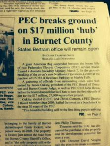 PEC Burnett County Headline